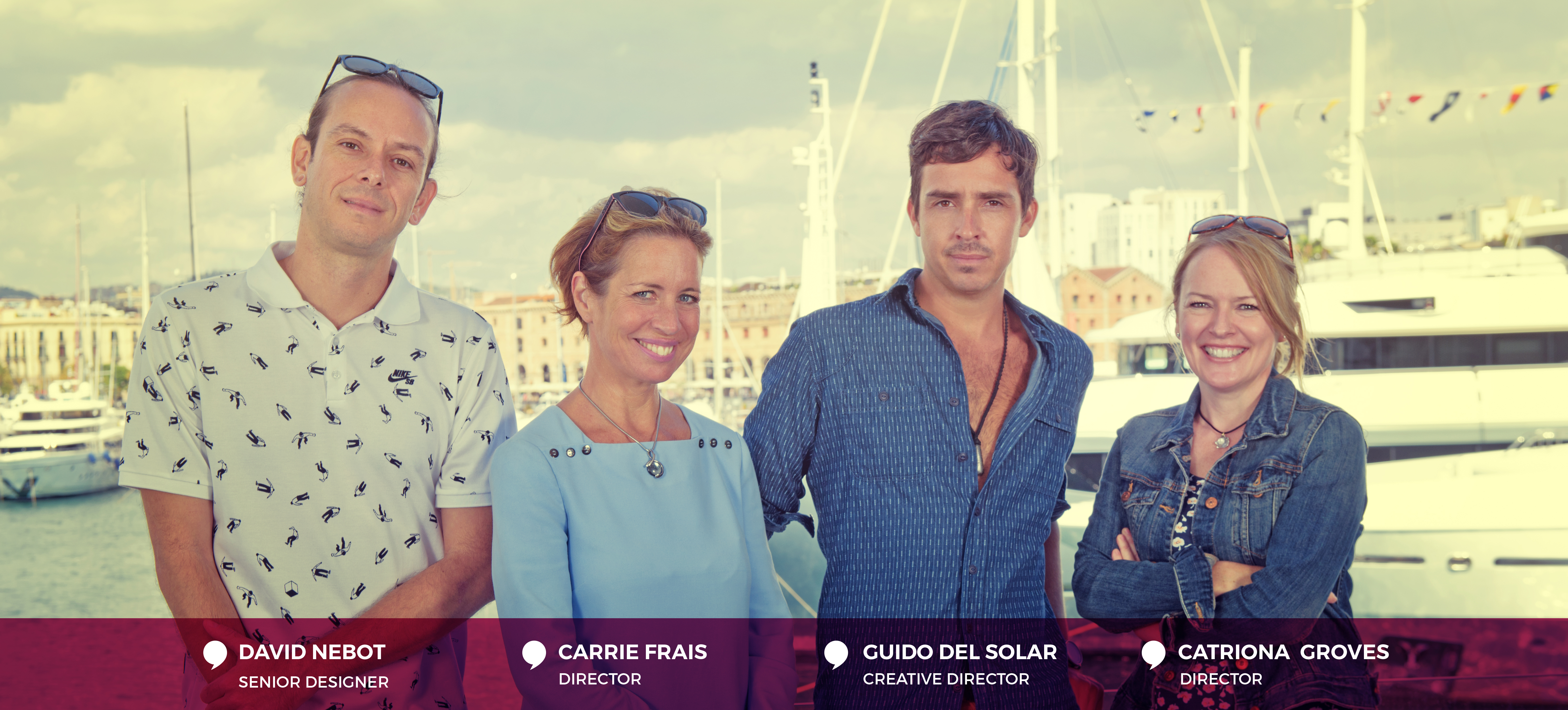 Team FiG Barcelona, David Nebot, Carrie Frais, Guido del Solar, Catriona Groves